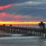 Stormy Sunset, San Clemente Pier