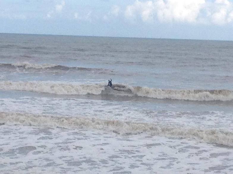 Local surfer, Withernsea