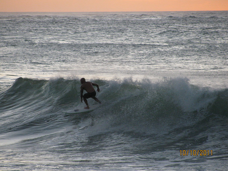 Night time surfing/sunset, Turtle Bay