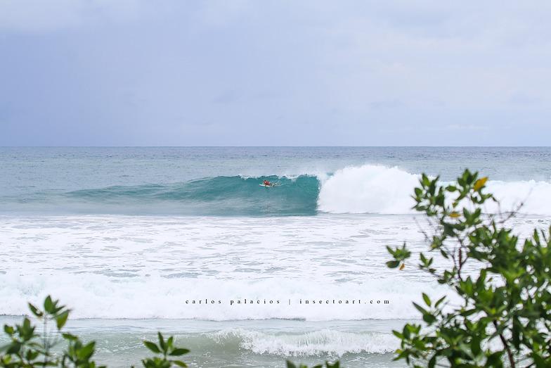 6ft closing out, Playa Santa Teresa