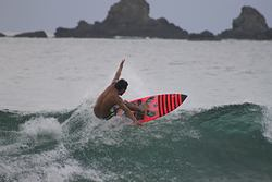 erick (leon) surf, Escolleras photo