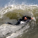Bodyboarder's Ripping It at Jenkin's Beach, New Jersey, Jenkinsons (Point Pleasant)