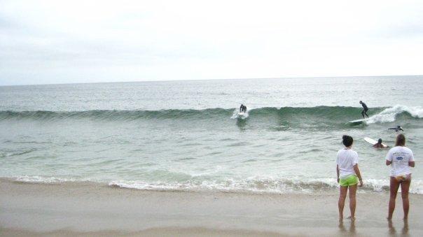 Cloudy but good swell, Nauset Beach