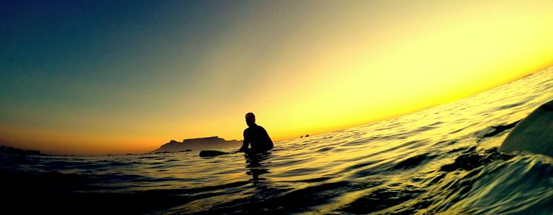 Sunset surf, Big Bay