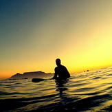 Sunset surf, Big Bay
