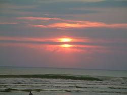 Sunset Surfing, Le Porge photo