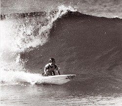 Mark Bell backhand bottom turn, Catherine Hill Bay photo