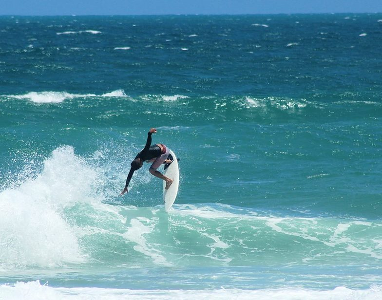 Sergio Cavalcante surfing his home break, Praia do Futuro