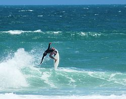 Sergio Cavalcante surfing his home break, Praia do Futuro photo