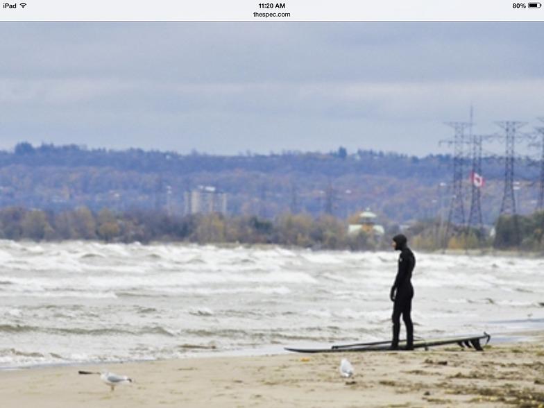 October surf in Hamilton