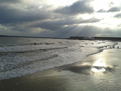 Winter sunshine, Walton-On-The-Naze photo