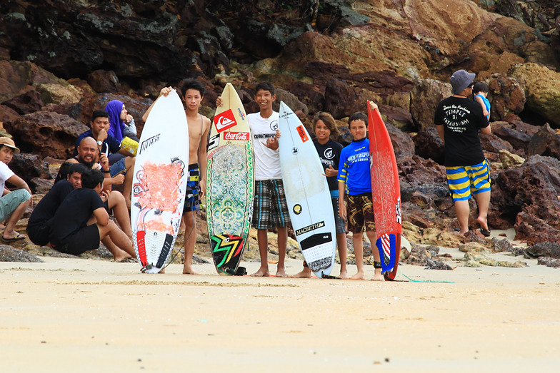 Volcom/cherating point surf competition