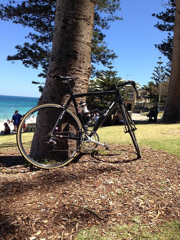 bike on Cottesloe beach
