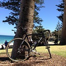 bike on Cottesloe beach