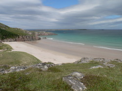 Sando Bay, Durness - Tiny summer swell., Sango Bay photo