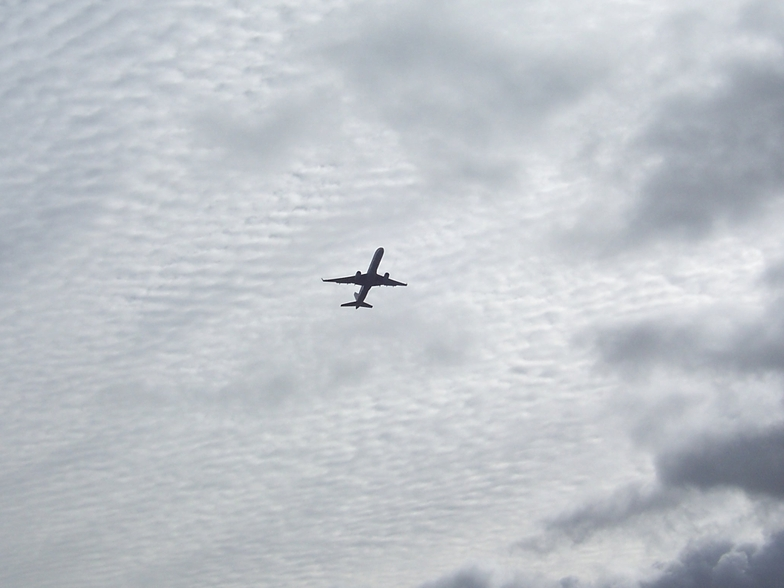 Plane taking off from LAX over Gillis