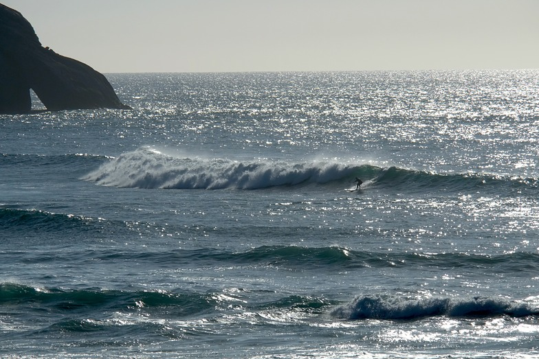 Cyclone Pam swell, Wharariki Beach