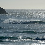 Cyclone Pam swell, Wharariki Beach