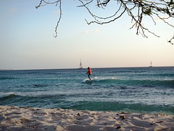 Arashi Beach Aruba at sunset, Dooms photo