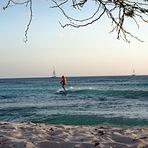 Arashi Beach Aruba at sunset, Dooms