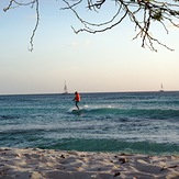 Arashi Beach Aruba at sunset, Dooms