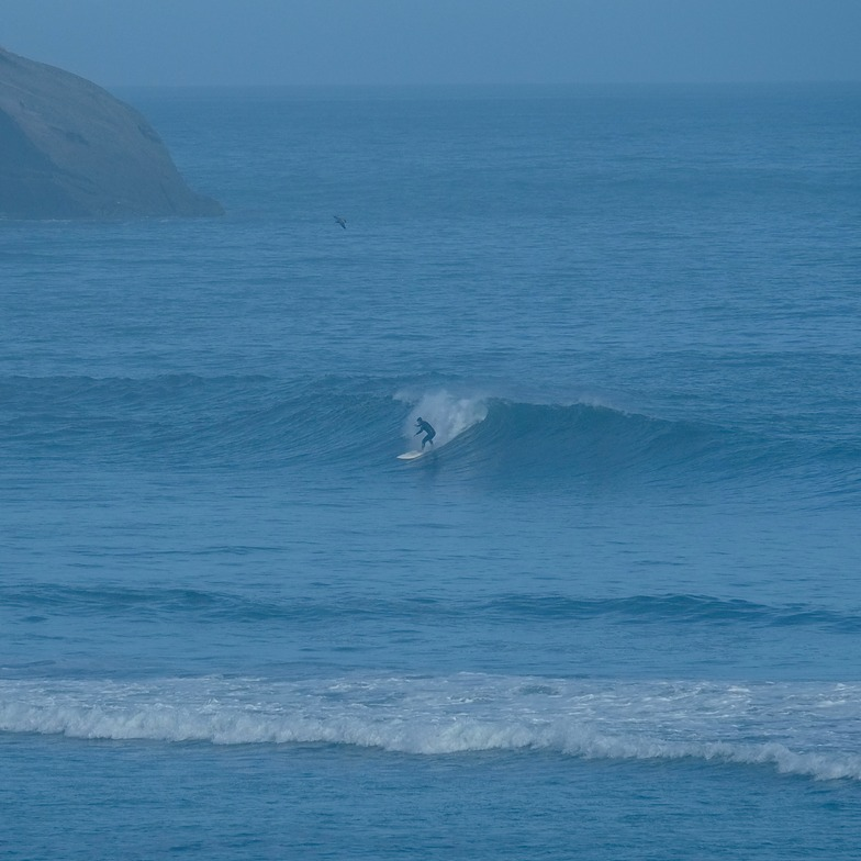 Cyclone Pam swell - day 3, Wharariki Beach
