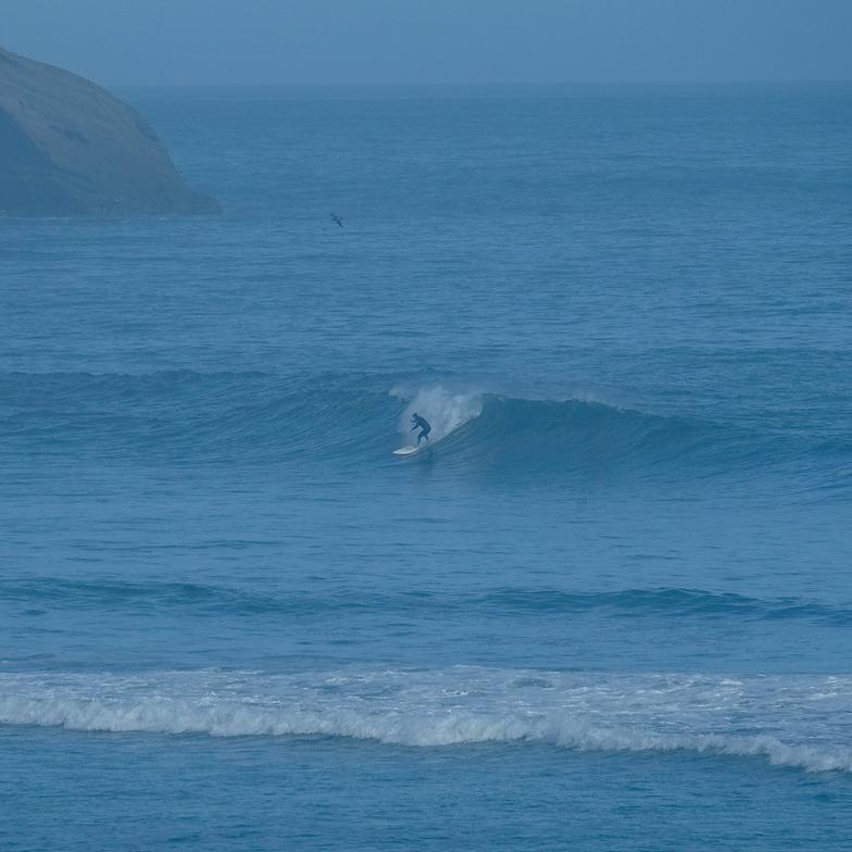 Cyclone Pam swell - day 3, Wharariki Beach