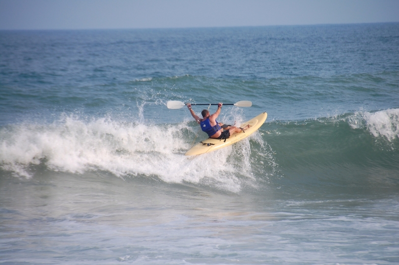 Surf City surf kayaking, Topsail Island