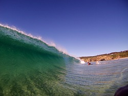 Clean Day at Caves, Caves Beach photo