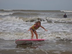 First time surfing, Galveston photo