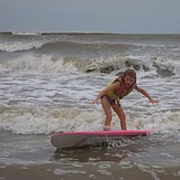 First time surfing, Galveston