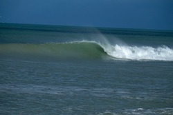 Clean swell, Amberley Beach photo