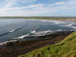 Tail end of Hurricane Danielle Swell, Lahinch Left photo