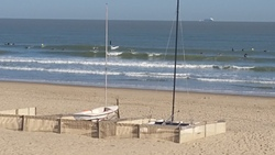 High tide nnw swell at the beach club in blankenberge photo