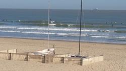 High tide nnw swell at the beach club in blankenberge photo