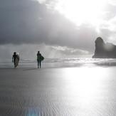 ashleigh and tali, Wharariki Beach