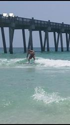 pensacola beach pier  photo