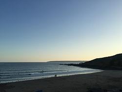 Perranuthnoe Beach at Sunset photo