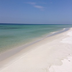 Clear water and white sand, Pensacola beach photo
