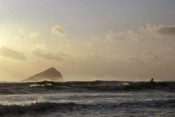 Lone Surfer at Wembury Bay photo