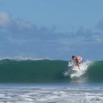 Me surfing, Tamarin Bay