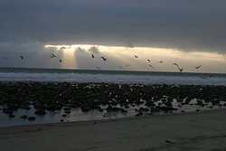 Socorro winter sunset, El Socorro photo