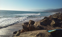 Faria waves, looking north photo