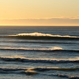Wharariki spring evening high tide, Wharariki Beach
