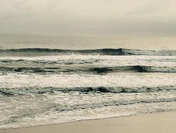 Empty am lineup, Ormond Beach Pier photo
