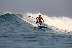 Guy Baker on 7ft SUP, Ekas-Inside photo