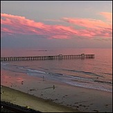 Pink Sunset at the Pier, San Clemente Pier