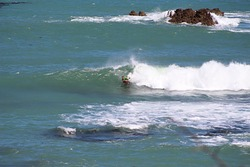 A wave of his own, Breaker Bay photo
