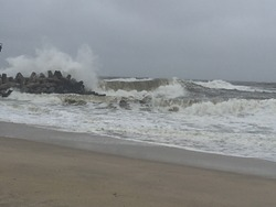 Nor'easter 2015, Manasquan Inlet photo