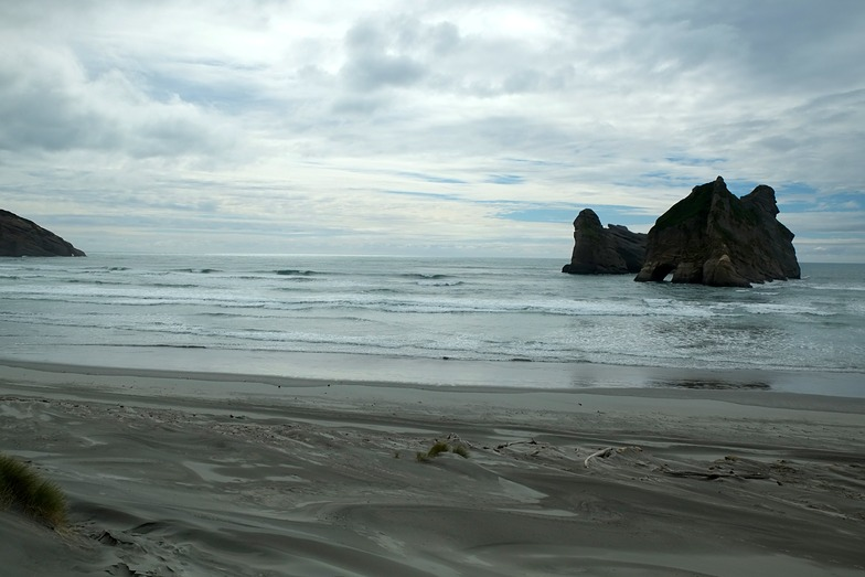 Bigger than it looks, Wharariki Beach